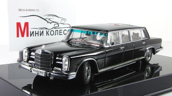 MERCEDES-BENZ 600 LWB (Autoart) [1963г., Черный, 1:43]