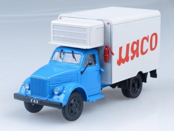 1АЧ (Газ-51) Рефрижератор (DeAgostini (Автомобиль на службе)) [1946г., Голубой с белым, 1:43]
