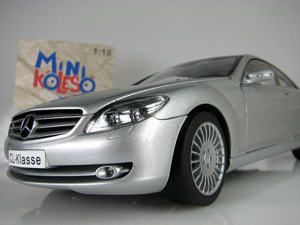 Mercedes-Benz CL COUPE (Autoart) [2006г., Серебристый, 1:18]