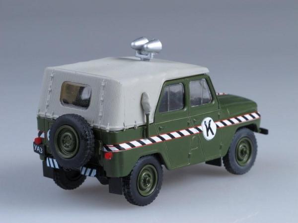 УАЗ-469 комендатура (DeAgostini (Автомобиль на службе)) [1971г., Хаки с серым тентом, 1:43]