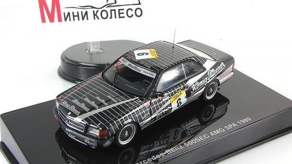 MERCEDES-BENZ 500 SEC (W126) AMG 24 HRS RACE SPA FRANCHORCHAMPS LUDWIG/CUDINI/MULLER 1989 #6 (Autoart) [1989г., Черный, 1:43]