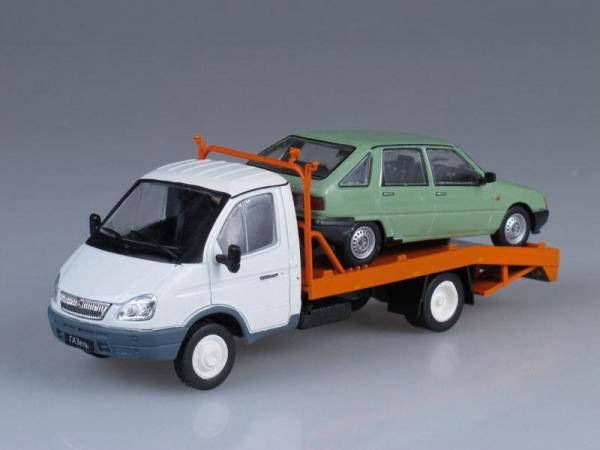 ГАЗ-3302 ГАЗель эвакуация автомобилей (DeAgostini (Автомобиль на службе)) [1994г., Белый, 1:43]