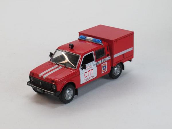 ВИС-294611 пожарный (DeAgostini (Автомобиль на службе)) [1990г., Красный с белыми полосами, 1:43]
