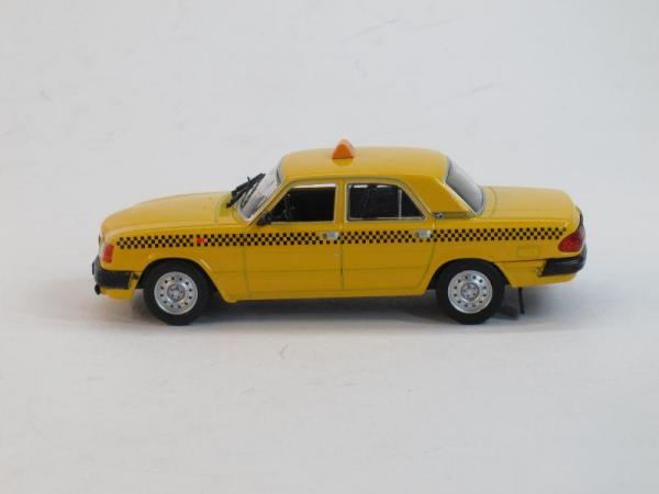 ГАЗ-3110 Такси (DeAgostini (Автомобиль на службе)) [1997г., Желтый, 1:43]
