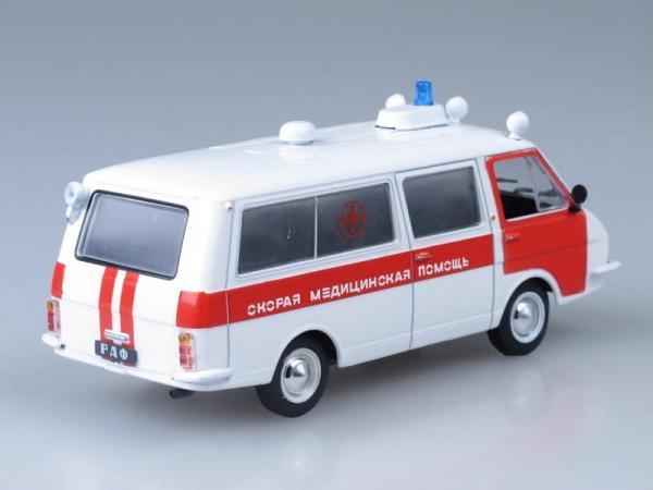 РАФ-22031 Скорая Медицинская Помощь (DeAgostini (Автомобиль на службе)) [1976г., Белый с красным, 1:43]