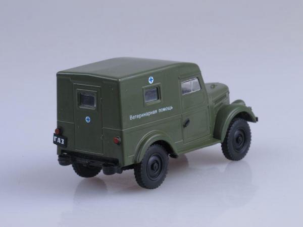 ГАЗ-69 Ветеринарная помощь (DeAgostini (Автомобиль на службе)) [1951г., Хаки, 1:43]