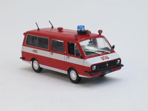 РАФ-22034 Пожарный (DeAgostini (Автомобиль на службе)) [1976г., Красный, 1:43]