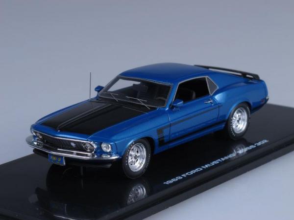 Ford Mustang Boss 302 (Highway 61) [1969г., Синий металлик с черным, 1:43]