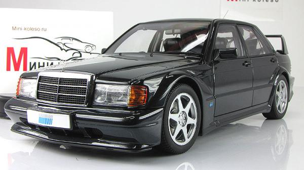 MERCEDES-BENZ 190E 2.5-16V EVOLUTION2 (Autoart) [1990г., Черный, 1:18]