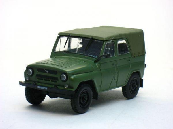 УАЗ-469/469Б (DeAgostini (Автолегенды СССР)) [1972г., Хаки, 1:43]