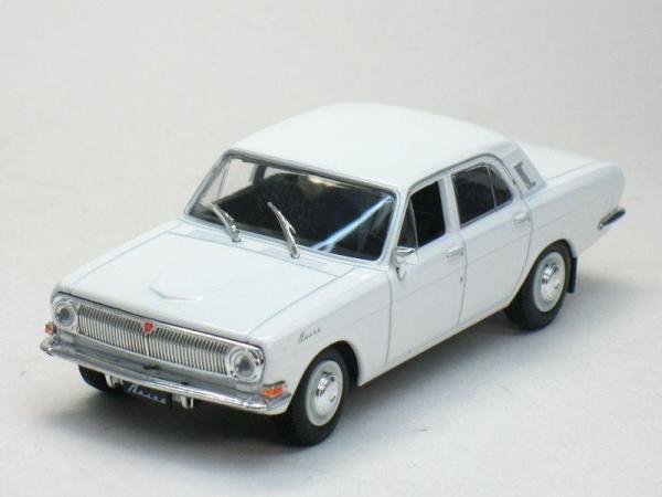 "ГАЗ-24 ""Волга"" (DeAgostini (Автолегенды СССР)) [1970г., Белый, 1:43]"