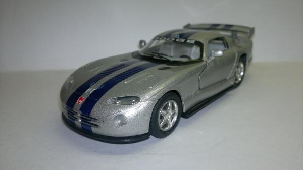 Dodge Viper GTS-R (Kinsmart) [2005г., Серебристый металлик, 1:36]