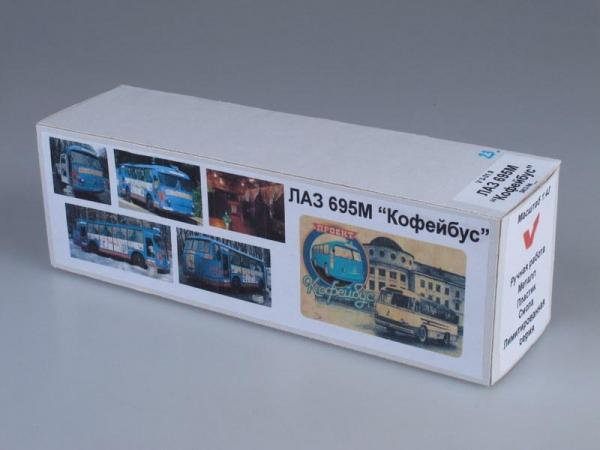 "ЛАЗ-695М ""Кофейбус"" (Vector-Models) [1958г., Голубой с белым, 1:43]"
