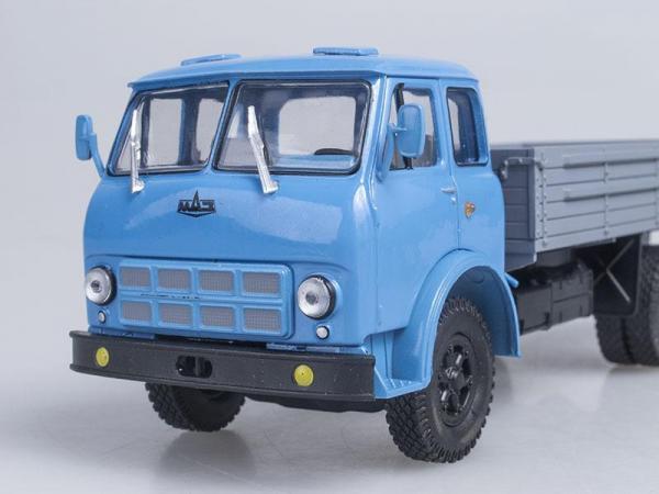 МАЗ-500А бортовой (Наш Автопром) [1970г., Голубой и серый, 1:43]