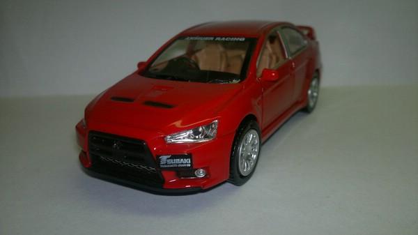 Mitsubishi Lancer Evolution X (Неизвестный производитель) [2007г., Красный, 1:32]