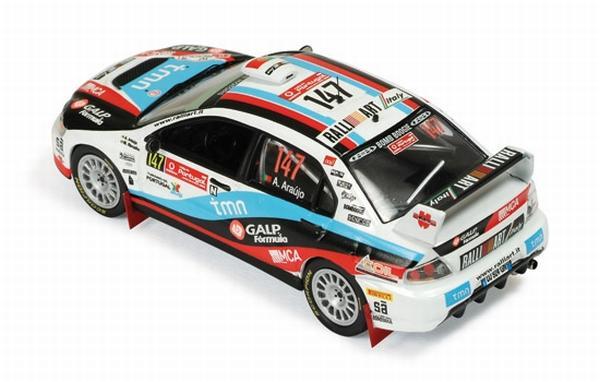 Mitsubishi Lancer EVO IX #147 A.Araujo-R.Miguel Rally Portugal (IXO) [2009г., Белый, черный, красный и голубой, 1:43]