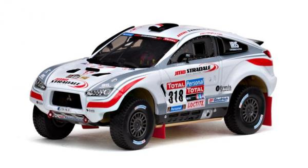 Mitsubishi Lancer - #318 N.Misslin/J.M.Polato, Dakar Rally (Vitesse) [2010г., Белый, 1:43]