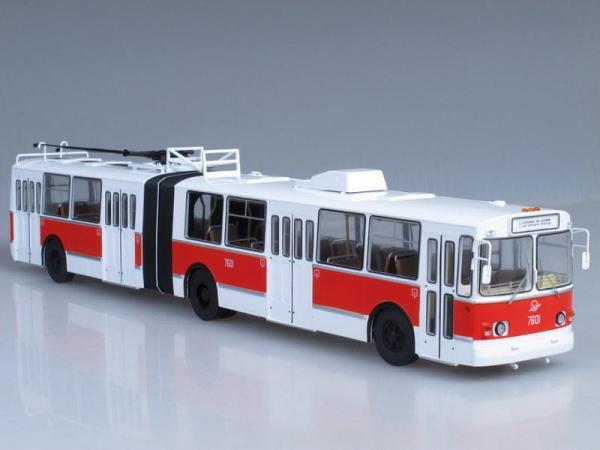 ЗиУ-10 (ЗиУ-683) троллейбус (Start Scale Models (SSM)) [1986г., Белый с красным, 1:43]