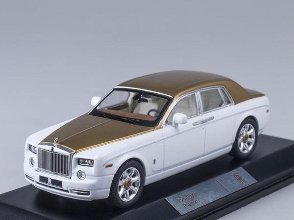 Rolls-Royce Phantom (IXO) [2010г., Белый и золотой, 1:43]