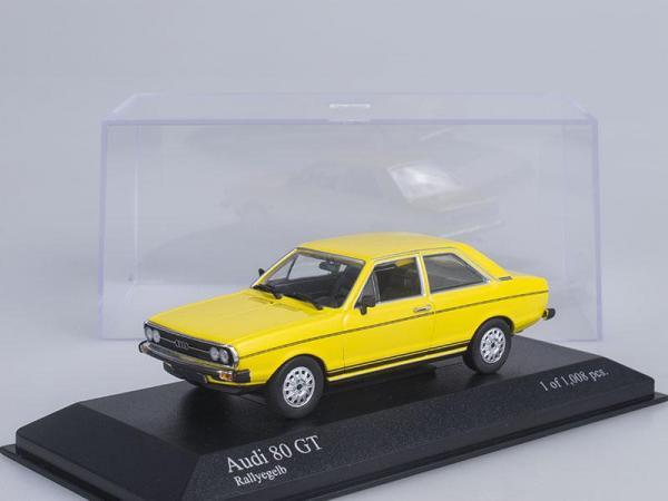 Audi 80 GT (Minichamps) [1972г., Желтый, 1:43]