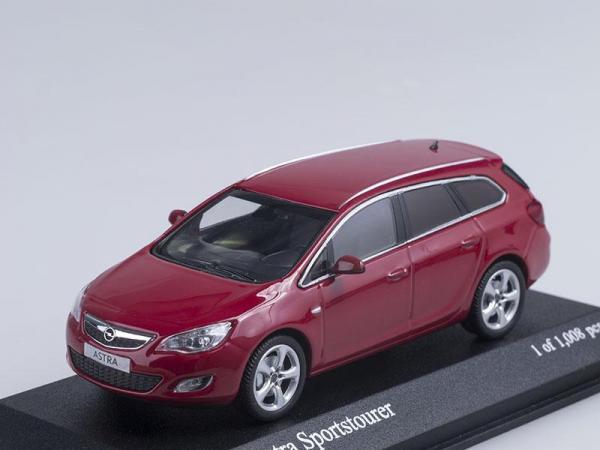 Opel Astra Sportdtourer (Minichamps) [2011г., Красный, 1:43]