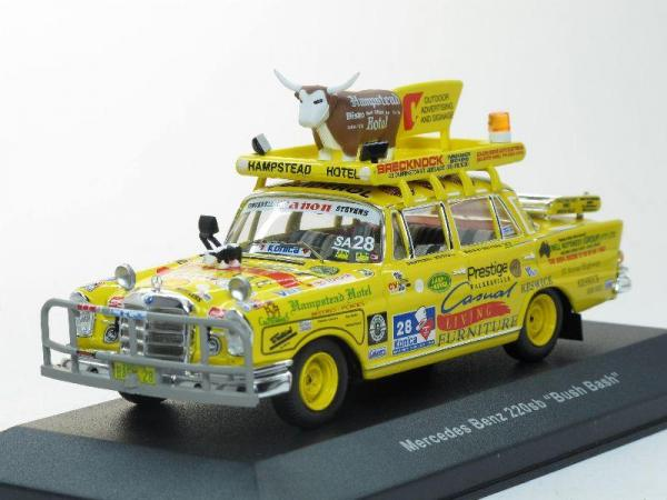 Mercedes 220 SE Bush Bash (IXO) [1958г., Желтый, 1:43]