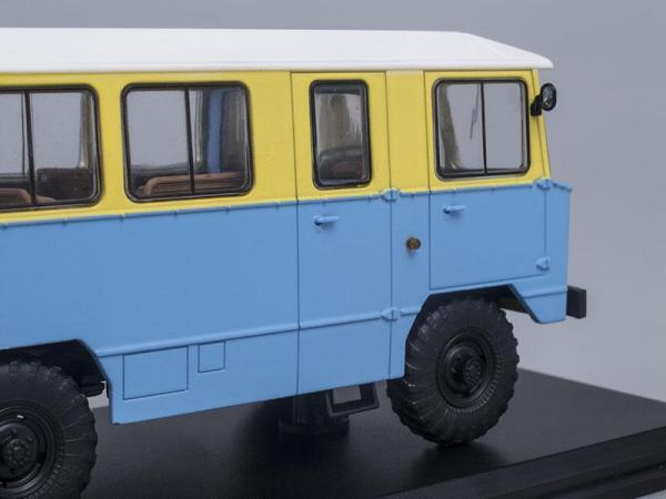 Армейский автобус АПП-66 (на шасси ГАЗ-66) (Start Scale Models (SSM)) [1974г., Голубой с желтым, 1:43]