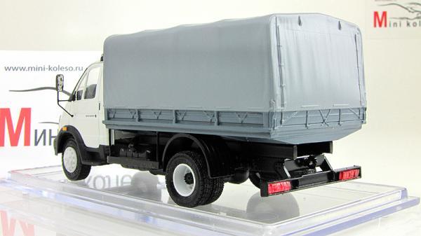 ГАЗ-3310 с тентом (Nik-models) [2003г., Белый и серый, 1:43]