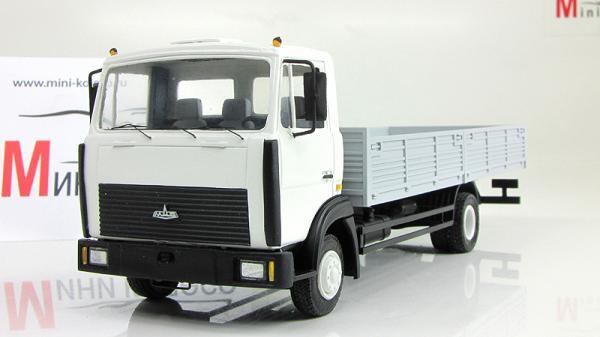 МАЗ-4380 бортовой удлиненный (Nik-models) [2003г., Белый и серый, 1:43]