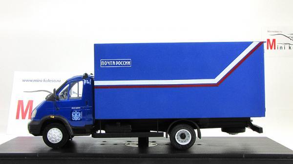 """ГАЗ-3302 """"Газель"""", фургон """"Почта России"""" (Nik-models) [1994г., Синий, 1:43]"""