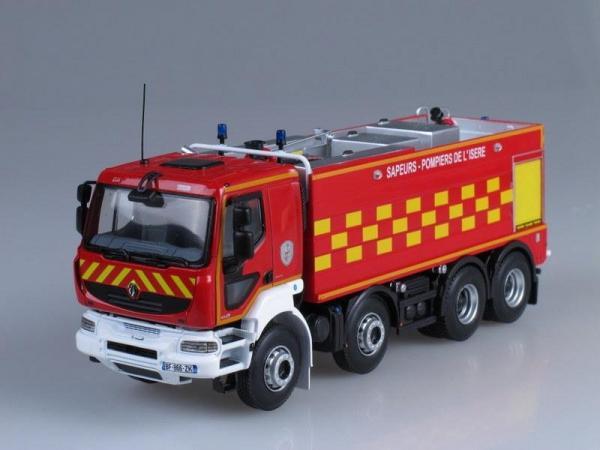 """Renault Kerax 8x8 пожарный """"FMOGP"""" (Norev) [2008г., Красный, 1:43]"""