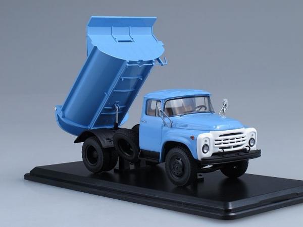 ЗИЛ-ММЗ-555 самосвал (поздняя облицовка радиатора) (Start Scale Models (SSM)) [1979г., Голубой, 1:43]