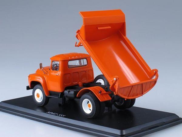 ЗИЛ-ММЗ-555 самосвал (ранняя облицовка радиатора) (Start Scale Models (SSM)) [1974г., Оранжевый, 1:43]