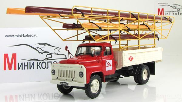 ГАЗ-53А клеть «Спартак» (Vector-Models) [1961г., Красный и белый, 1:43]