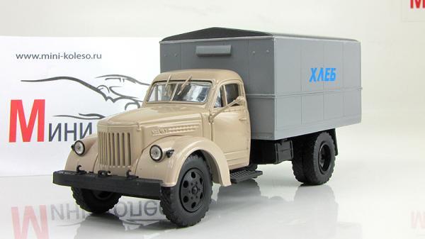 """УралЗИС-355, фургон """"Хлеб"""" (Vector-Models) [1934г., Бежевый и серый, 1:43]"""