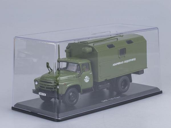 ЗИЛ-130 кунг (ранняя облицовка радиатора), аварийная-водопровод (Start Scale Models (SSM)) [1962г., Хаки, 1:43]
