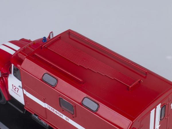 ЗИЛ-130 кунг пожарная служба, поздняя облицовка радиатора (Start Scale Models (SSM)) [1974г., Красный с белым, 1:43]