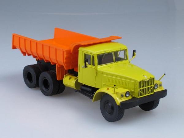 КрАЗ-256Б самосвал двухцветный (Start Scale Models (SSM)) [1966г., Желто-оранжевый, 1:43]