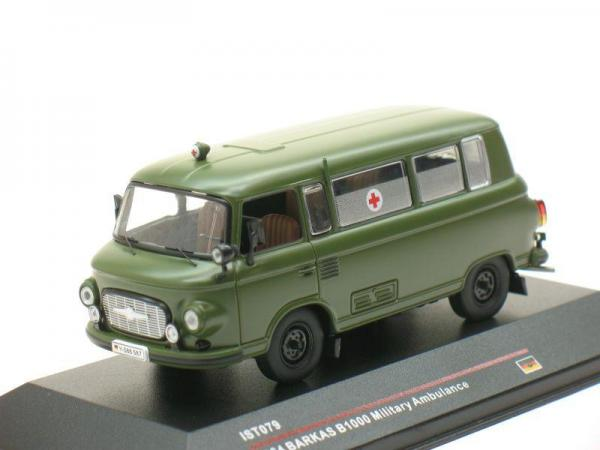 Barkas B1000 Military Ambulance (IST Models) [1961г., Хаки, 1:43]