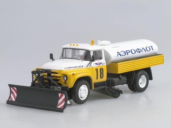 ЗИЛ-130 КПМ-2 Аэрофлот, ранний (D.N.K.) [1962г., Белый с желтым, 1:43]