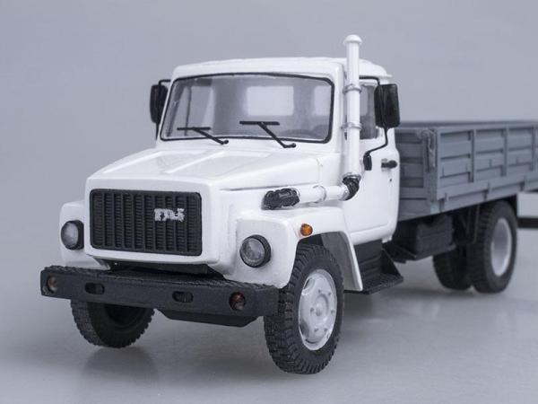 ГАЗ-3309 бортовой (Неизвестный производитель) [1989г., Белый с серым, 1:43]