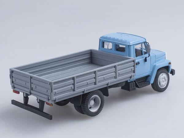 ГАЗ-3307 бортовой (Неизвестный производитель) [1989г., Голубой с серым, 1:43]