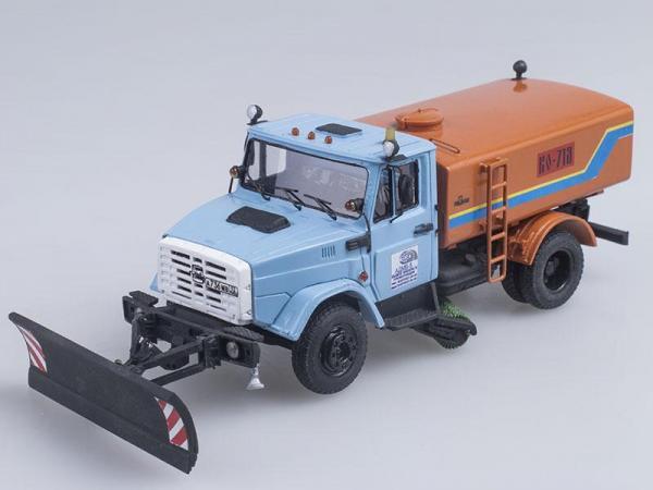 ЗИЛ-4331 КО-713 (D.N.K.) [1986г., Оранжевый с голубым, 1:43]