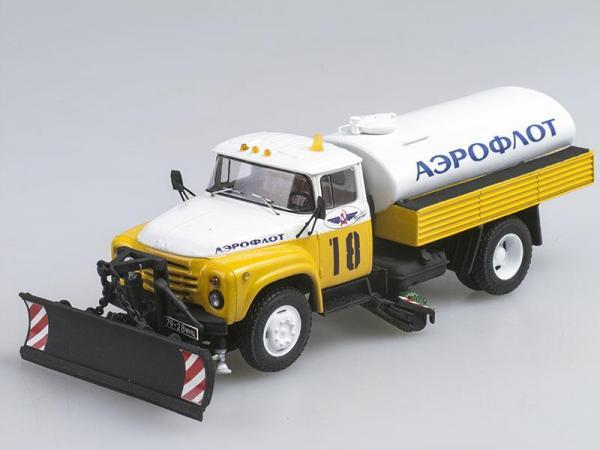 ЗИЛ-130 КПМ-2 Аэрофлот, поздний (D.N.K.) [1974г., Белый с желтым, 1:43]