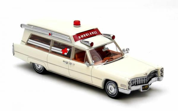 CADILLAC S&S Ambulance (Neo Scale Models) [1966г., Белый, 1:43]