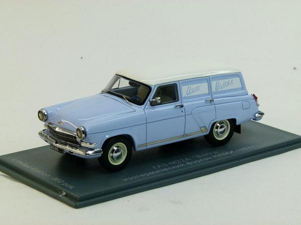 ГАЗ-22 изотермический фургон НАМИ (Neo Scale Models) [1963г., Голубой, 1:43]