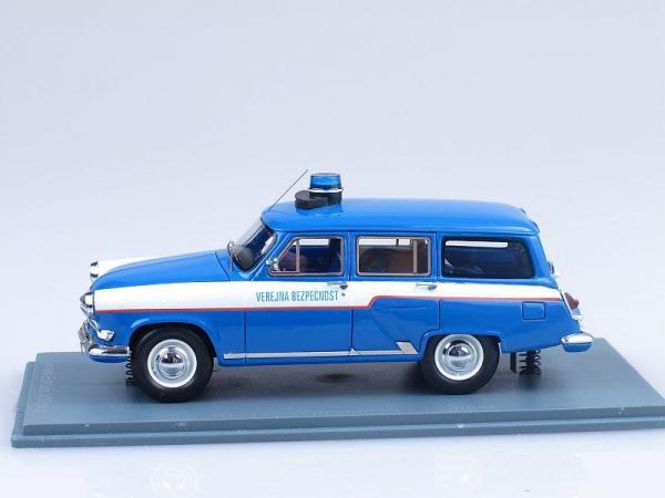 ГАЗ-22 Verejna Bezpecnost (Neo Scale Models) [1962г., Синий с белыми полосами, 1:43]