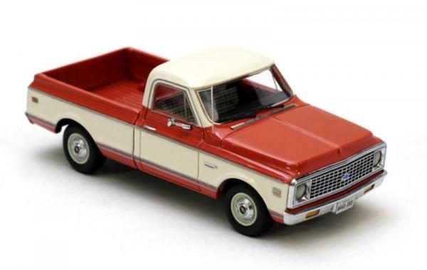 Chevrolet C10 (Neo Scale Models) [1971г., Красный, белый, 1:43]