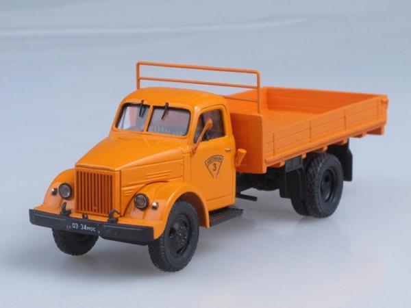 ГАЗ-51В бортовой длиннобазный, конверсия (НАП) (Vector-Models) [1957г., Оранжевый, 1:43]