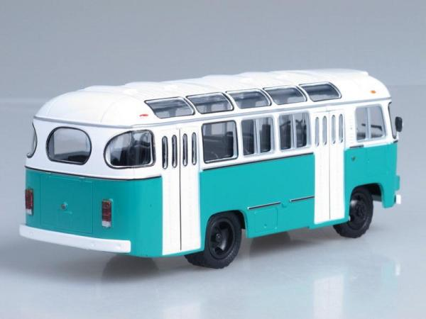 ПАЗ-672М (Советский автобус) [1982г., Белый и берюзовый, 1:43]